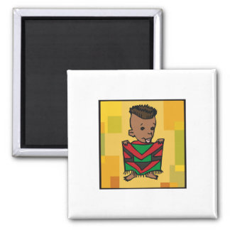 Boy Kwanzaa 2 Inch Square Magnet