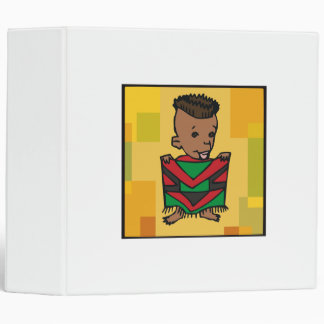Boy Kwanzaa 3 Ring Binder