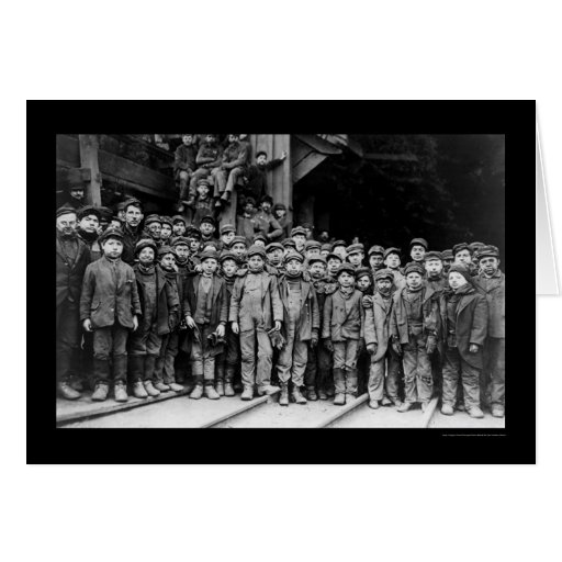 Boy Laborers at the Pennsylvania Coal Company 1911 Cards