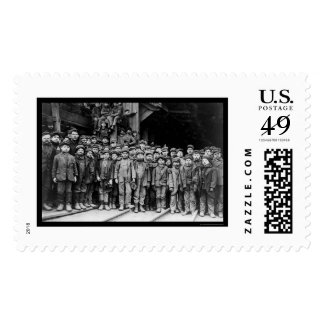 Boy Laborers at the Pennsylvania Coal Company 1911 Postage
