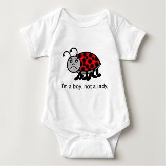 Boy Lady Bug Baby Bodysuit