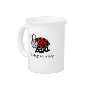 Boy Lady Bug Drink Pitcher