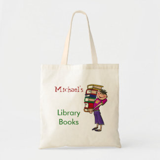 Boy Library Book Bag Custom Name