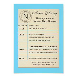 Library Invitations Announcements Zazzle