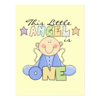 Boy Little Angel 1st Birthday Tshirts and Gifts Postcard