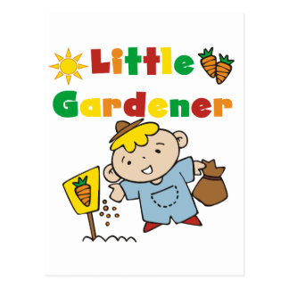 Boy Little Gardener Tshirts and Gifts Postcard