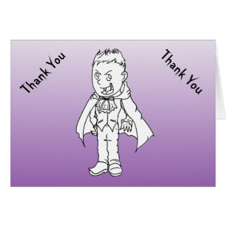 Boy Little Vampire Baby Shower Thank You Notes