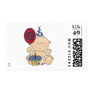 Boy Look Who's One Tshirts and Gifts Postage Stamp