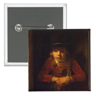 Boy Looking through the Window, c.1647 2 Inch Square Button
