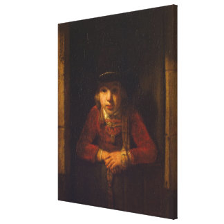 Boy Looking through the Window, c.1647 Canvas Print