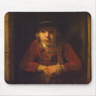 Boy Looking through the Window, c.1647 Mouse Pad