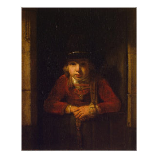 Boy Looking through the Window, c.1647 Poster