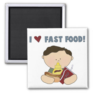 Boy Loves Fast Food Tshirts and Gifts Refrigerator Magnet