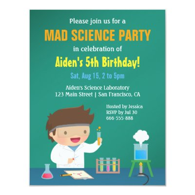 kids science party invitation zazzle com