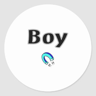 Boy Magnet Classic Round Sticker