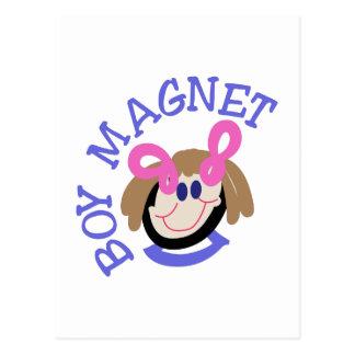 Boy Magnet Postcard