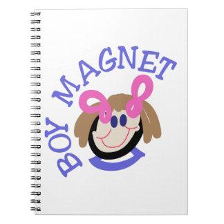 Boy Magnet Spiral Notebook