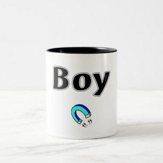 Boy Magnet Two-Tone Coffee Mug
