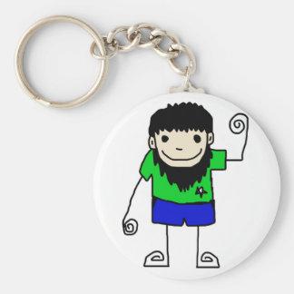 boy man keychain