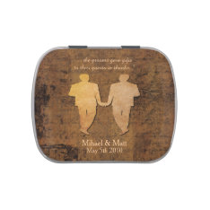 Boy Meets Boy Gay Wedding Favor Jelly Bellies Candy Tin at Zazzle