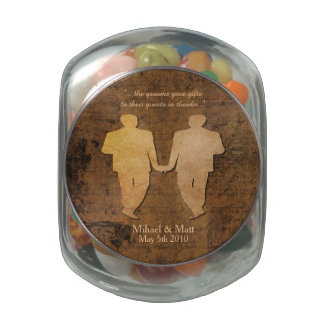 Boy Meets Boy Gay Wedding Favor Jelly Belly Jar Jelly Belly Candy Jars