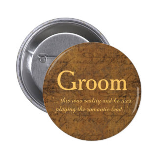 Boy Meets Boy Love Story Groom's Badge Button