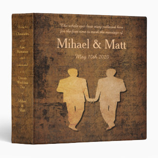Boy Meets Boy Storybook Romance Gay Wedding Album Binder