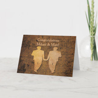 Boy Meets Boy Wedding Card for Gay Grooms
