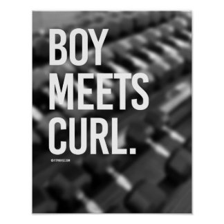 Boy meets Curl -   Guy Fitness -.png Poster