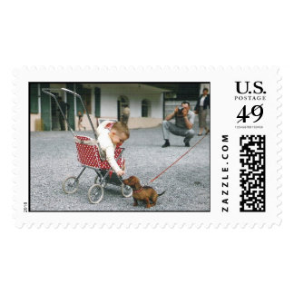 BOY MEETS DOG POSTAGE