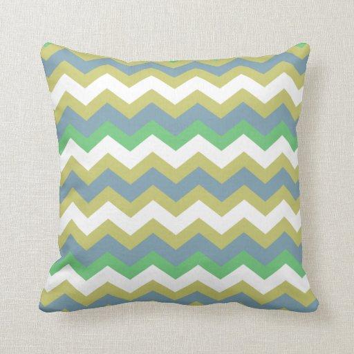 Throw Pillows Lagos : Boy Mixed Blue Zigzags Throw Pillow Zazzle