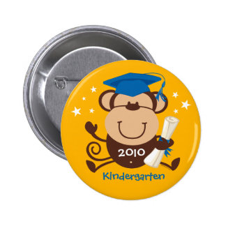 Boy Monkey Graduate Custom Pinback Button