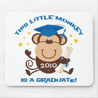 Boy Monkey Graduate Mousepads