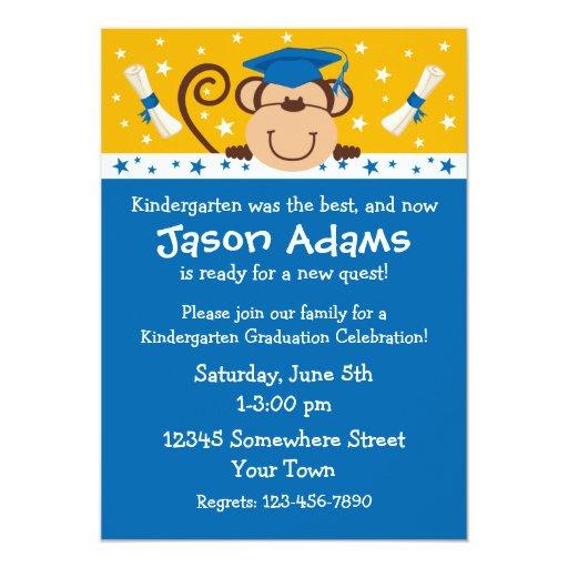 Boy Monkey Graduation Card