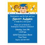 Boy Monkey Graduation Custom Invites