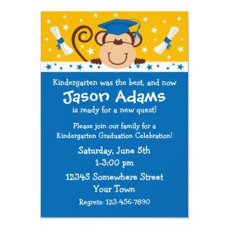 "Boy Monkey Graduation 5"" X 7"" Invitation Card"