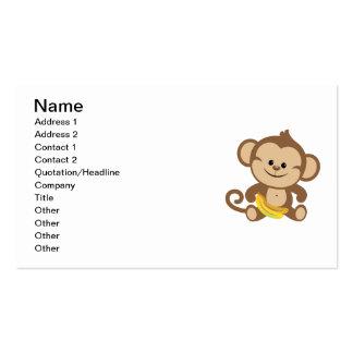 Boy Monkey With Banana Business Card