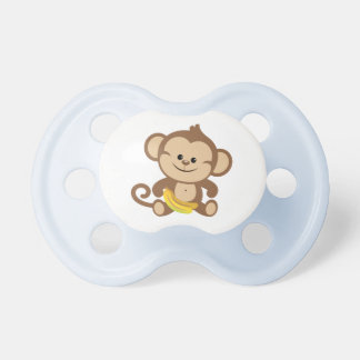 Boy Monkey With Banana Baby Pacifier
