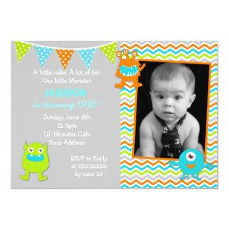 Boy Monster Birthday Invitations