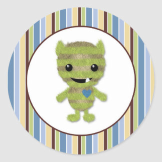 BOY MONSTER Peek a Boo Baby Monsters PABC #6 Classic Round Sticker