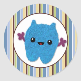 BOY MONSTER Peek a Boo Baby Monsters PABC #7 Classic Round Sticker
