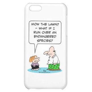 boy mow lawn endangered species iPhone 5C case