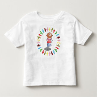 BOY & MULTICOLOR PEOPLE CHAIN Toddler T-Shirt