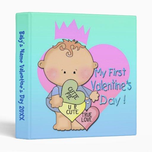 """Boy My 1st Valentine's Day 1"""" Binder"""