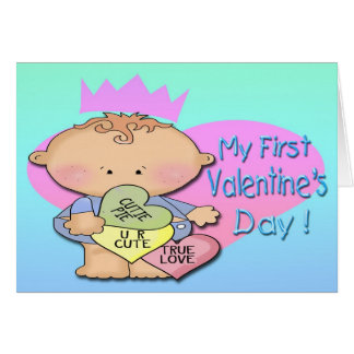 Boy My 1st Valentine's Day Greeting Card