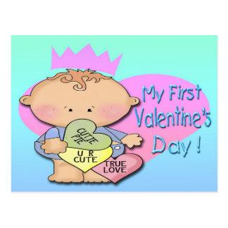 Boy My 1st Valentine's Day Postcard