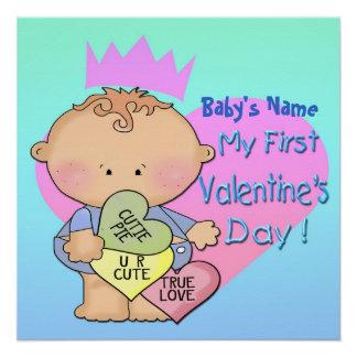 "Boy My 1st Valentine's Day Poster 20""x20"""