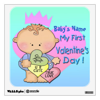 Boy My 1st Valentine's Day Square Wall Decal