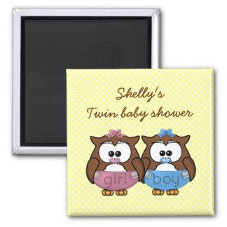 boy 'n girl baby owl fridge magnets