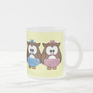 boy n girl baby owl coffee mug